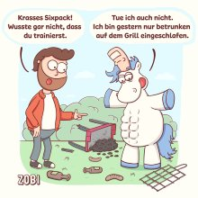 Stinkefingereinhorn - Zobi