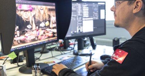 Pixelschupser bei der Arbeit